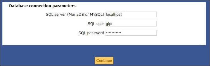 GLPI MySQL