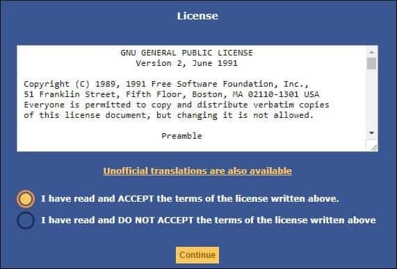 GLPI terms of license