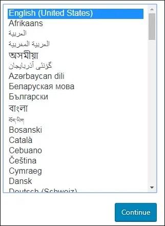 Wordpress Select Language